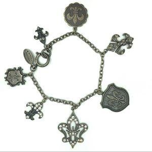 Catherine Popesco Charm Bracelet Fleur de Lis